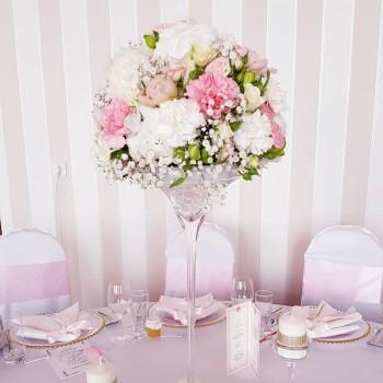 Kvetinová výzdoba na svadobné stoly Ana Fiori 1