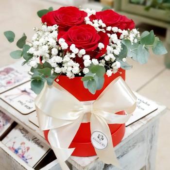 Kvetinový box Ruže AnaFiori 6