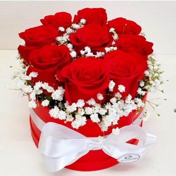 Kvetinový box Ruže AnaFiori 8
